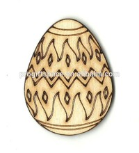 Hot sell Easter Egg Engraved and Laser Cut Unfinished Wood Shapes made in China