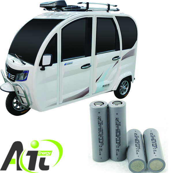 FST CJ18650 rechargeable lithium battery electric rickshaw li ion battery cells 2.4AH