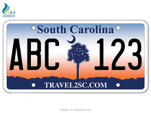 Reflective Embossed Aluminum Metal Decorative Custom Car License Plate