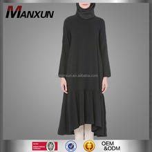 2017 Muslim black women dresses islamic tops blouse fashion wholesale abaya