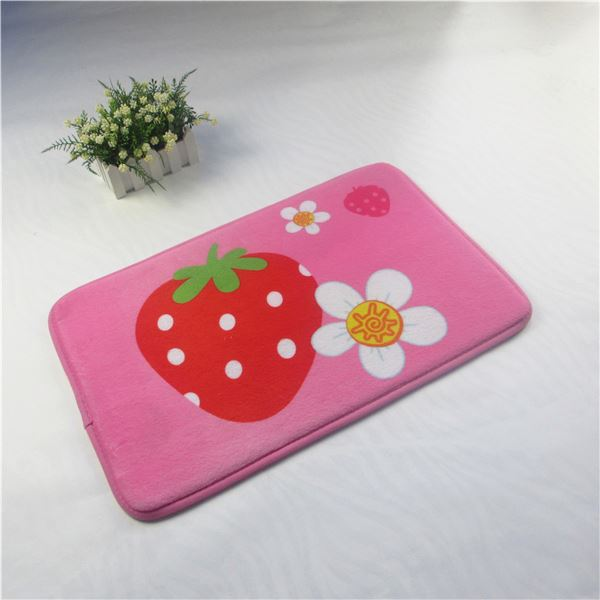 top quality heart-shaped microfiber bath mat