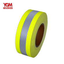 Factory Direct colour Falme cotton reflective fabric tape for clothing