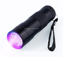 2017 New 12 LED UV Blacklight Flashlight, Pets UltraViolet Urine Detector Dogs Cats Stain Detector, Find Dry Stain on Carpet Rug