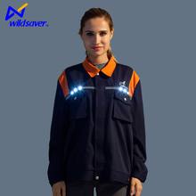 New design flahsing security working wear for female breathable warning