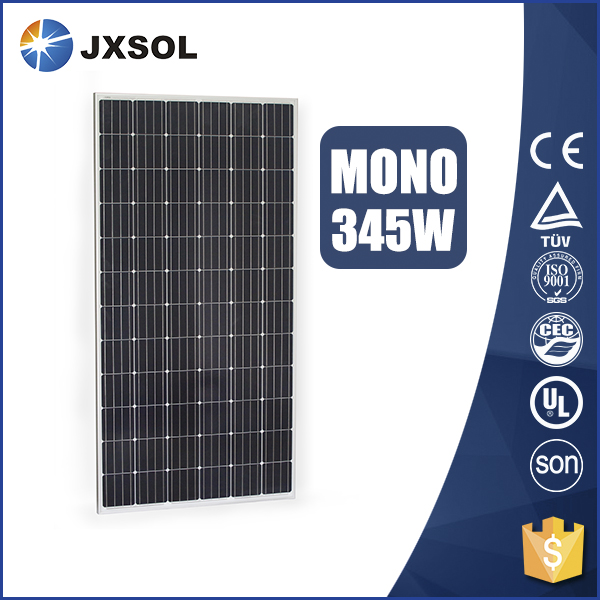 High efficiency monocrystalline photovoltaic cell solar panels 345 watt with TUV and CE certificates