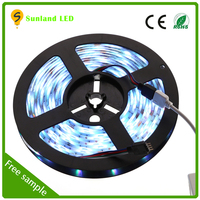 Waterproof rgb flexible smd 5050 multi color led strip with 3M back tape