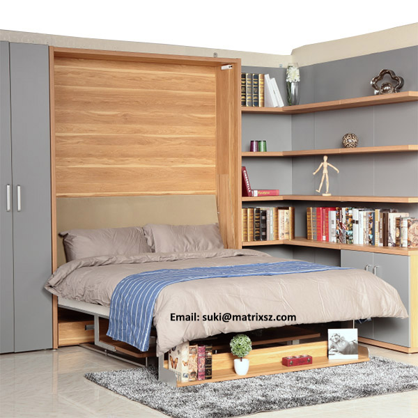wand bett mit studie tisch smart m bel innovative bett. Black Bedroom Furniture Sets. Home Design Ideas