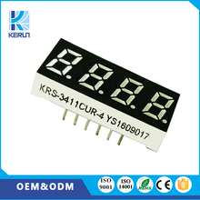 OEM ODM 0.31 inch 10pins indoor graphics 4 digit led display 7 segment with red color