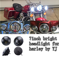 New product 7'' led motorcycle led headlight cheap led headlight for jeep offroad/harley