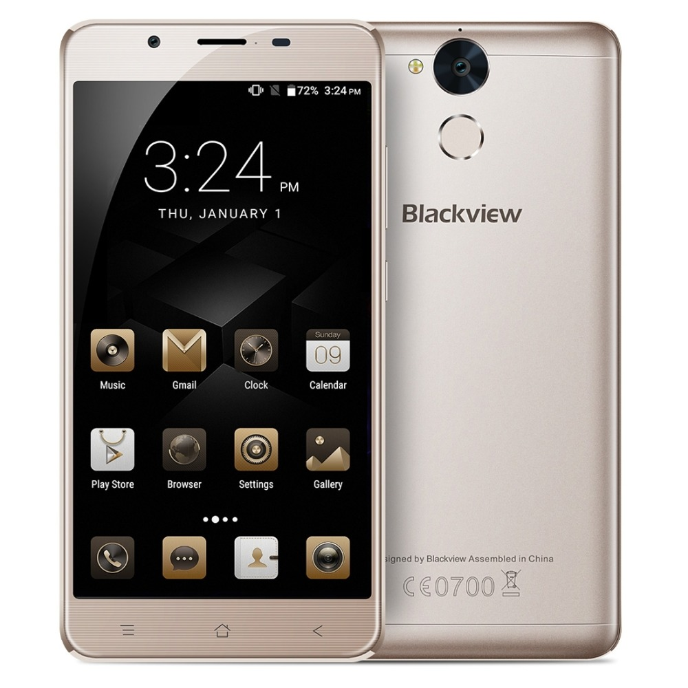 Original Blackview P2 Lite 4G Mobile Phone Android 7.0 32GB ROM 3GB RAM Octa Core 1080P 13MP Camera Dual SIM 5.5 inch SmartPhone