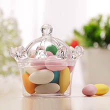 Fashion High Quality Wedding or Baby Shower Favors Crown Shape Plastic Candy Packaging Box