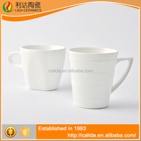 Eco-Friendly good quality white porcelain LM694 cheap plain white coffee mug with great price