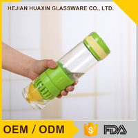 Novelty Pyrex Glass Silicone Drinking Bottle for Sports