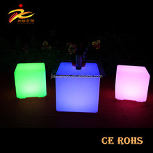 2017 CE certification hot sale 10cm to 100cm led cube seat,magic cube and glowing cube seat for wedding event decoration
