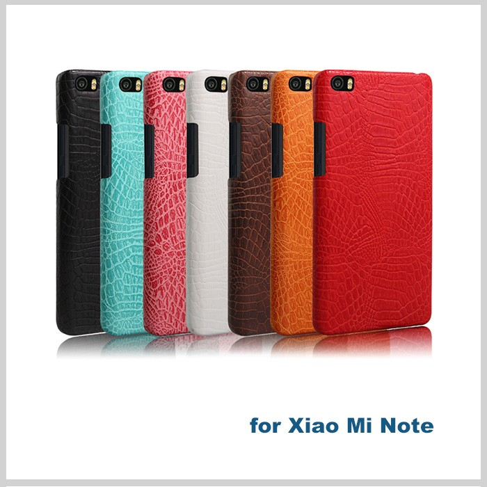 Top quality genuine leather cell phone back cover for xiaomi mi note