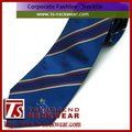 100% Silk Woven Bespoke Ties with stripes and shadow weave logo,custom tie