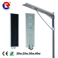 30w All in one design solar led street light with solar panel ,battery and controller