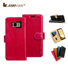 Wallet Leather Magnetic Smart Flip Folio Case Cover with Card Slot Cash Compartment for Samsung S8