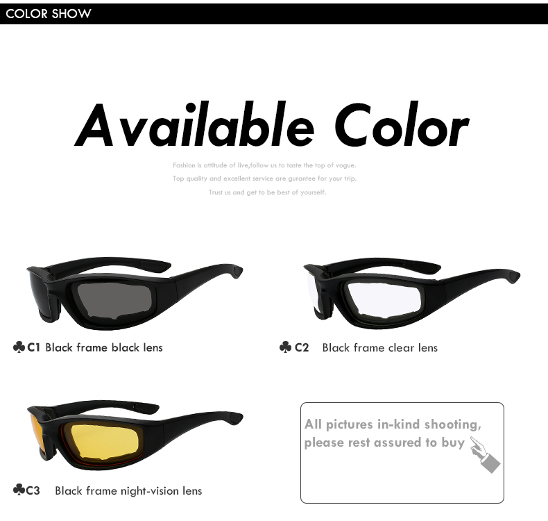Wholesale Custom Logo 3 Pair Smoke Clear Yellow Sport Promotional Motorcycle Women Men Sunglasses