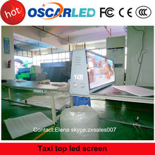 Electronics of china market outdoor 3G/wifi/USB control LED Display p5 taxi top led screen for taxi sign