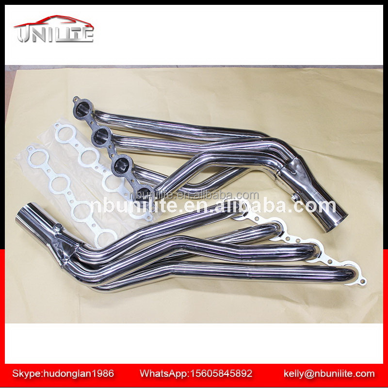 Stainless Steel Exhaust Long Tube Header Manifold For Chevrolet 10-14 Camaro SS LS3 6.2L V8