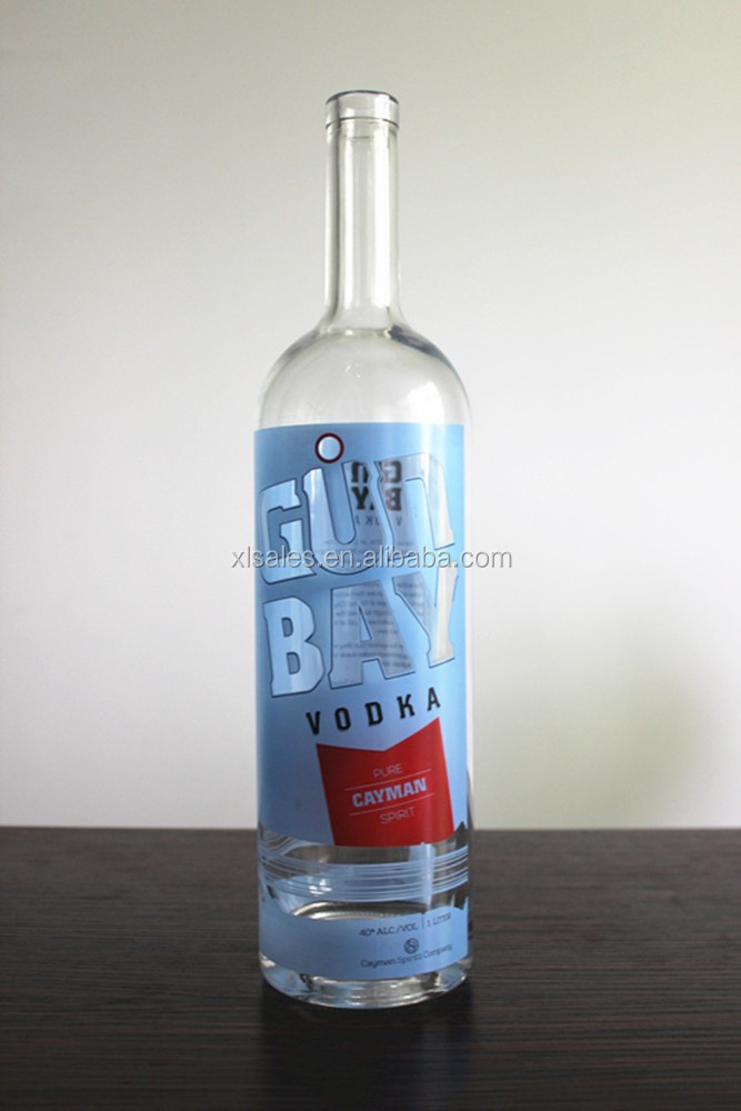 1L GLASS GUN BOTTLES IN CLEAR COLOR 1000ML