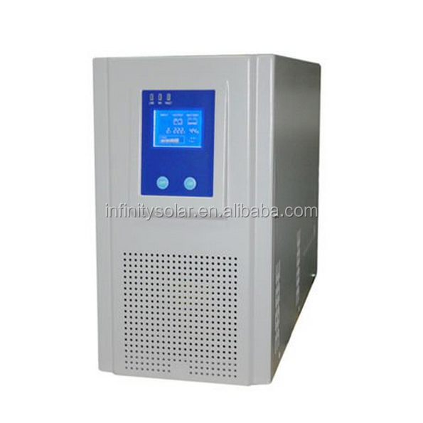 Pure sine wave 500VA dc to ac solar charge controller inverter with AC power/diesel generator input