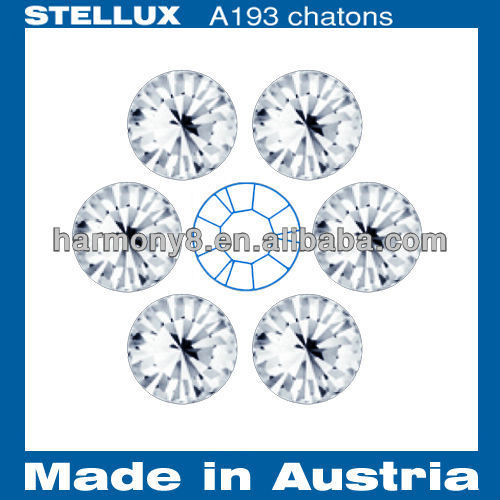 Stellux A193 Glass chatons Point back rhinestones Crystal