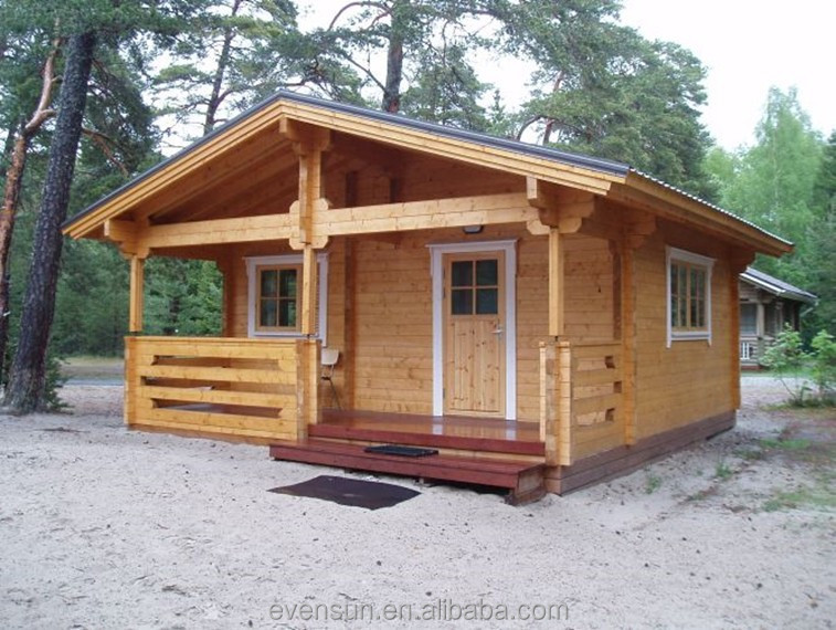 Wooden prefab low cost modular samll log cabin