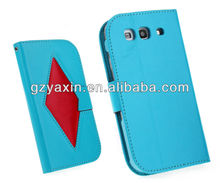 Luxury wallet leather case for samsung galaxy s3 i9300,for samsung galaxy s3 window view flip smart cover case