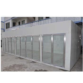 Glass-door walk-in cold room for supermarket & store