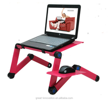 Recliner aluminum folding laptop table stand for beds