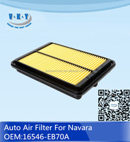16546-EB70A Auto Air Filter Air Cleaner For Nissan