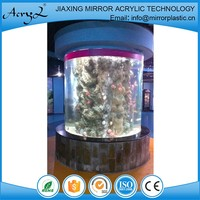 China Wholesale White Shape Acrylic Cylinder Fish Tank