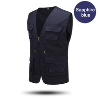 Custom designs newest hot sales outdoor men's multi pocket photography vest fishing cotton vest