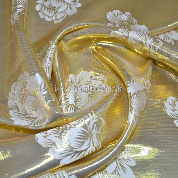 jacquard lurex silk fabric