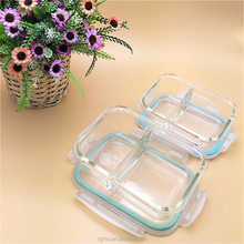 Glass Bento Box/Meal Food Storage Lunch Box with Divider/Glass Food Container