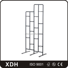 Stainless Steel Display Rack Free Standing Metal Frame Furniture Shelves