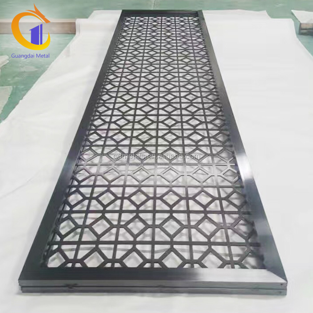 Stainless Steel Room Dividers Partitions Laser Cut Privacy Metal Screen With Customized Pattern