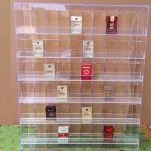 Factory custom acrylic cigarette display case large clear acrylic cigarette cabinet for sale