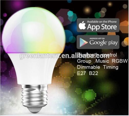 4.5W RGBWW E27 AC100-240V Connected to Mobile Phone Touching LED Bluetooth Bulb for sale
