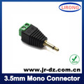 1pcs Green Male 3.5mm mono connector to terminal block with RoHS approved