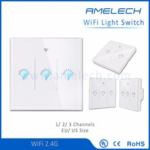 220v android ios wifi wireless remote control touch screen light switch