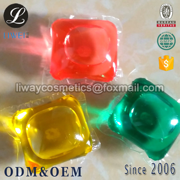 manufacturers direct supply OEM ODM Private Label 15g high density water soluble liquid washing detergent capsule laundry pod