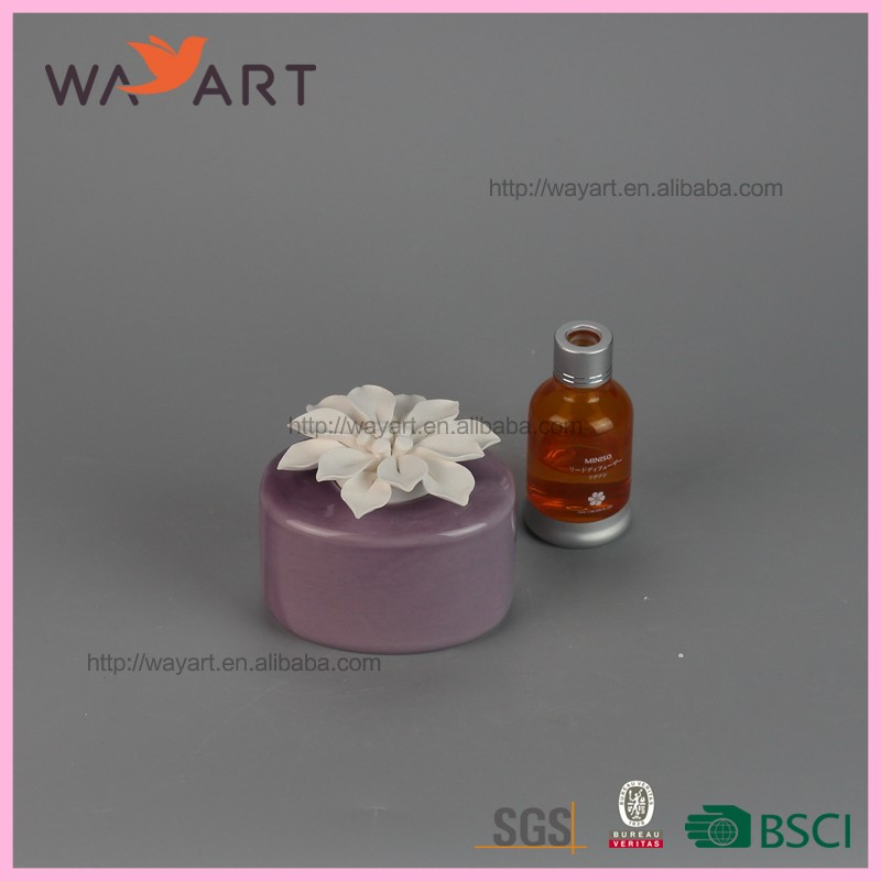 Hand-made Flower Purple Ceramic Aroma Diffuser