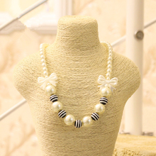 Black and white bead necklace for kids