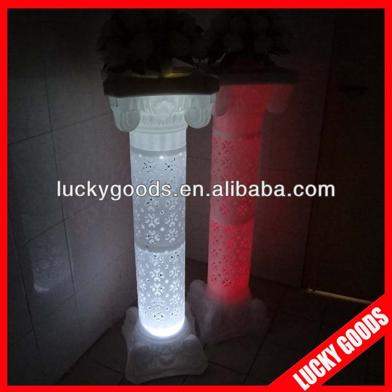 LED plastic decorative wedding pillars for sale