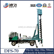 Truck mounted portable sand auger drilling machine DFS-70