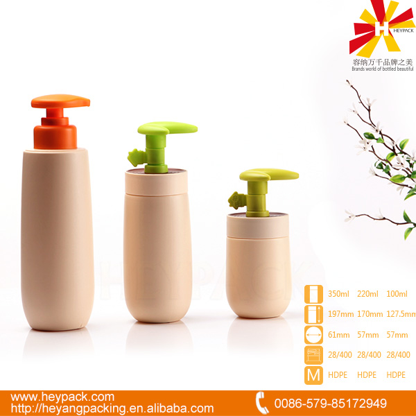 100 220 350ml pink round HDPE hair shampoo spray bottle