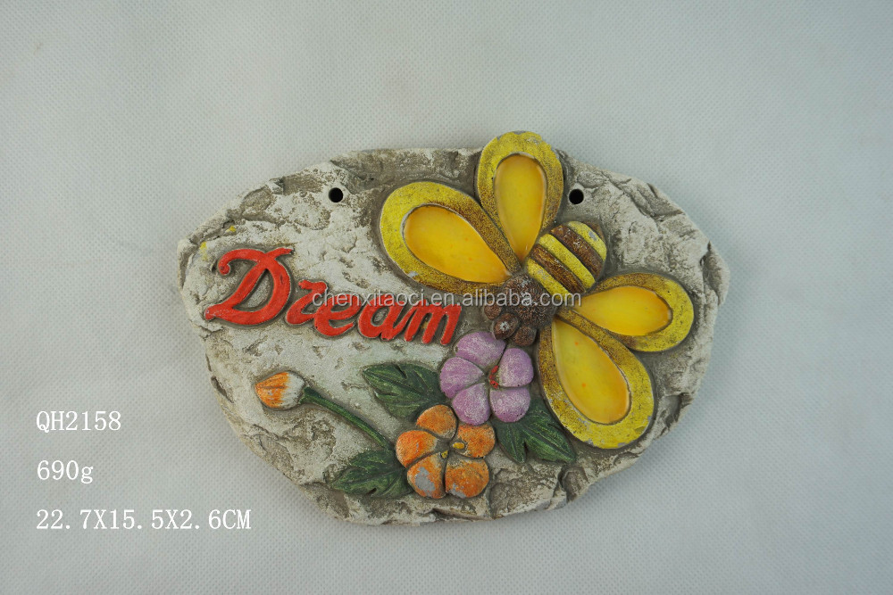 Cement plate as interior wall stone decoration, or home stone decoration deco, popular decoration garden with cheap price